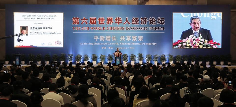 SBY Bicara Ekonomi di Forum Internasional Tiongkok